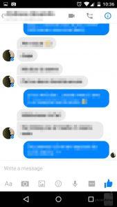 Messenger messaggio visualizzato
