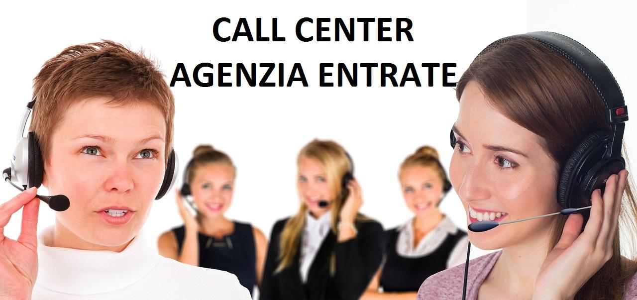 call center agenzia entrate